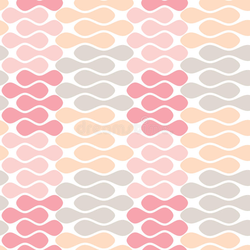 Seamless abstract geometric pattern. Aligned pastel beans geometric pattern. Seamless tile stock illustration