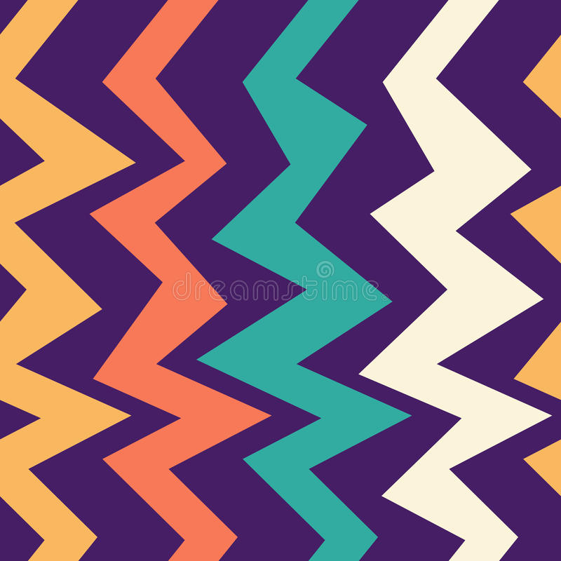 Download Seamless Abstract Geometric Pattern With The Colorful Zigzag Lines Design Template For Wallpaper