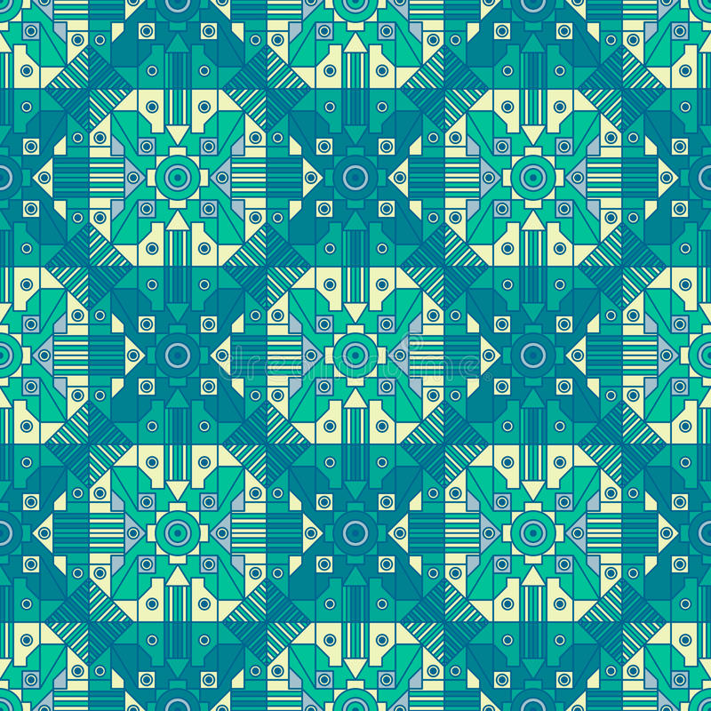 Seamless abstract geometric pattern with one of a kind repetition. royalty free stock image