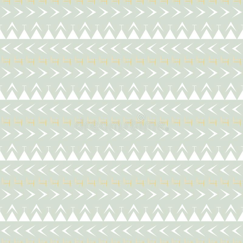 Seamless simple geometric pattern in pastel colors. Seamless abstract geometric pattern in pastel colors. Uncomplicated vector print with wide horizontal stripes royalty free illustration