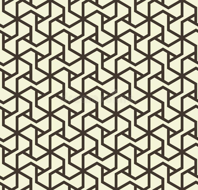 Seamless abstract geometric pattern with triangle lines in black and white - vector eps8 royalty free illustration