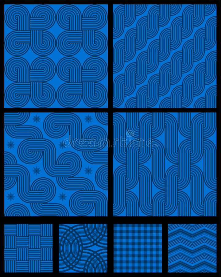 Seamless Abstract Geometric Patterns Stock Images