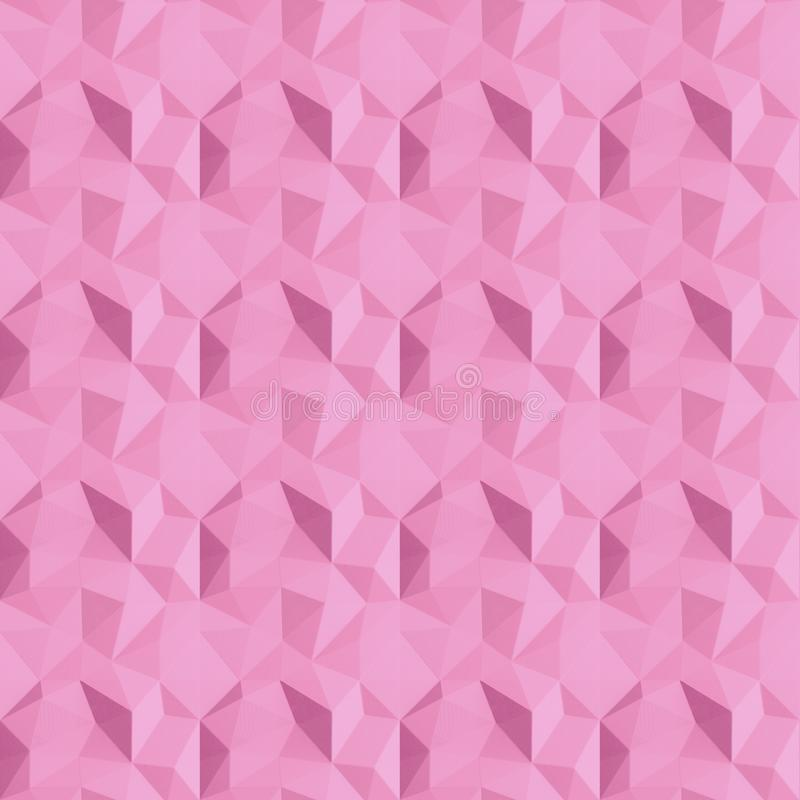 Seamless Abstract geometric pink background pattern. Geometric design, template for layout, web site, creative background of. Polygons, wallpaper. Edge plane royalty free stock photo