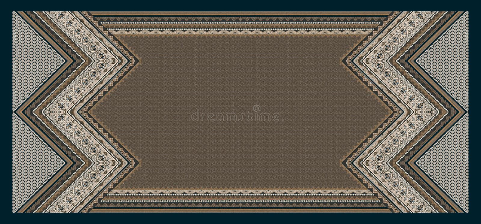 Seamless abstract geometric traditional wave background royalty free illustration