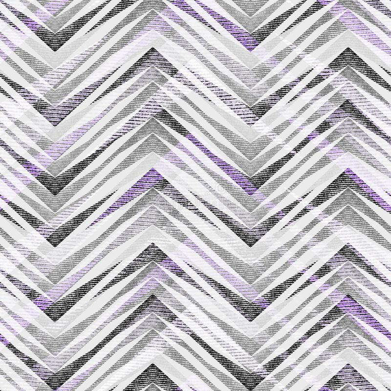 Seamless abstract geometric zigzag pattern on light gray background. stock illustration