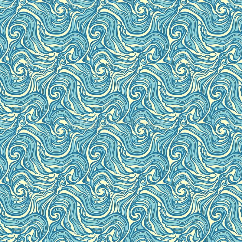 Seamless Abstract Hand-drawn Curly Pattern Royalty Free Stock Photography