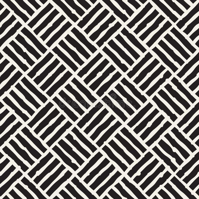 Seamless abstract hand drawn pattern. Vector freehand lines background texture. Ink brush strokes geometric design. Seamless abstract hand drawn pattern. Vector stock illustration
