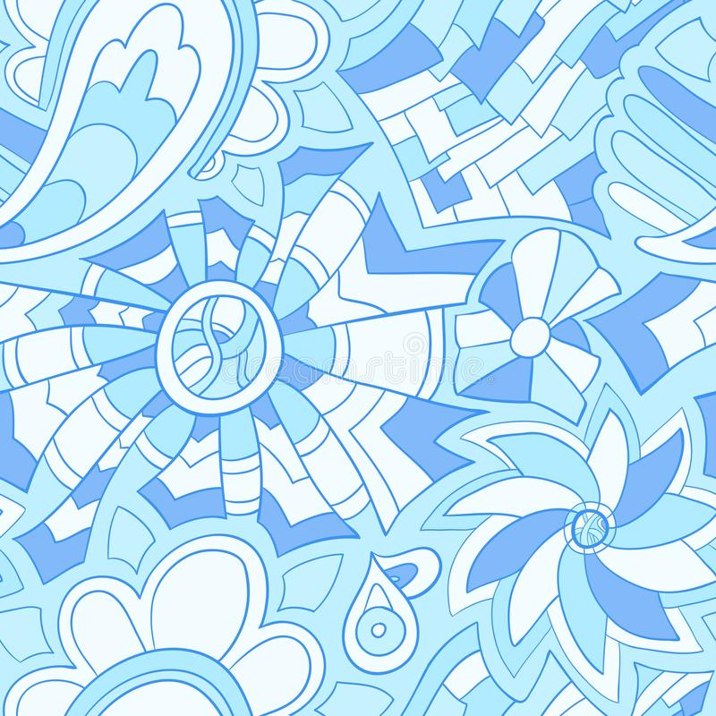 Seamless abstract hand drawn pattern royalty free stock photos