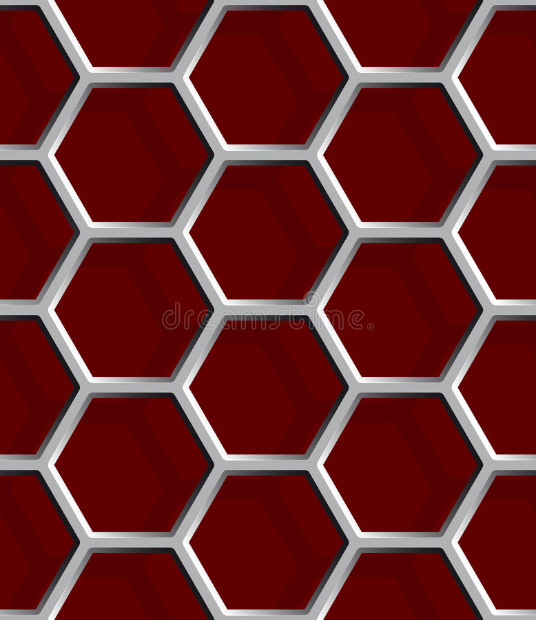 Seamless abstract honeycomb mesh background - hexagons. stock illustration