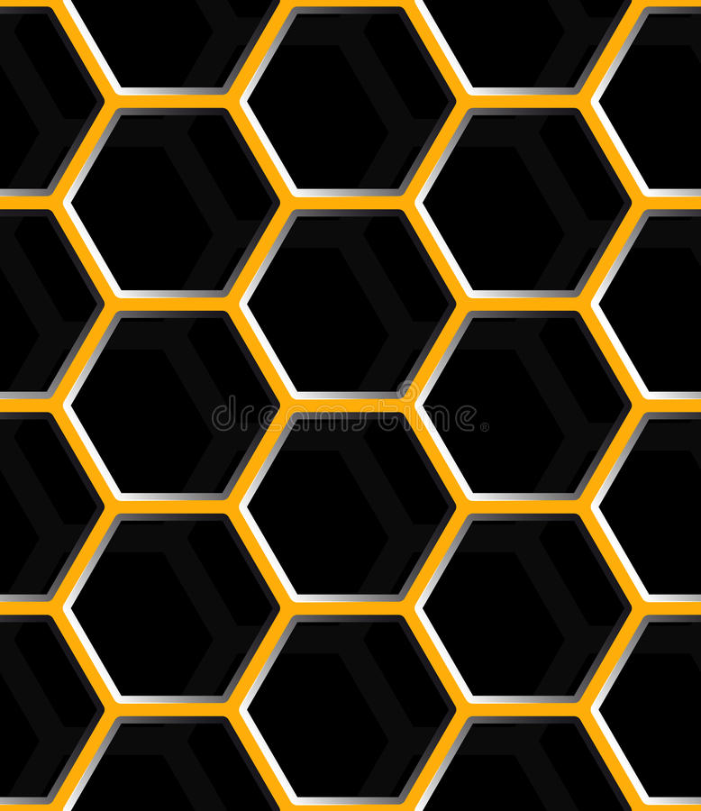 Seamless abstract honeycomb mesh background - hexagons. royalty free illustration