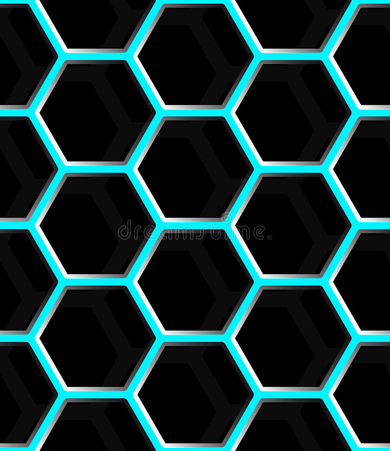 Seamless abstract honeycomb mesh background - hexagons. vector illustration