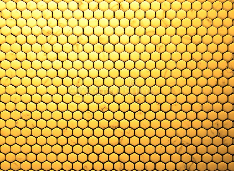 Seamless abstract honeycomb pattern. Ceramic tiles texture hexagon honeycomb pattern background royalty free stock images
