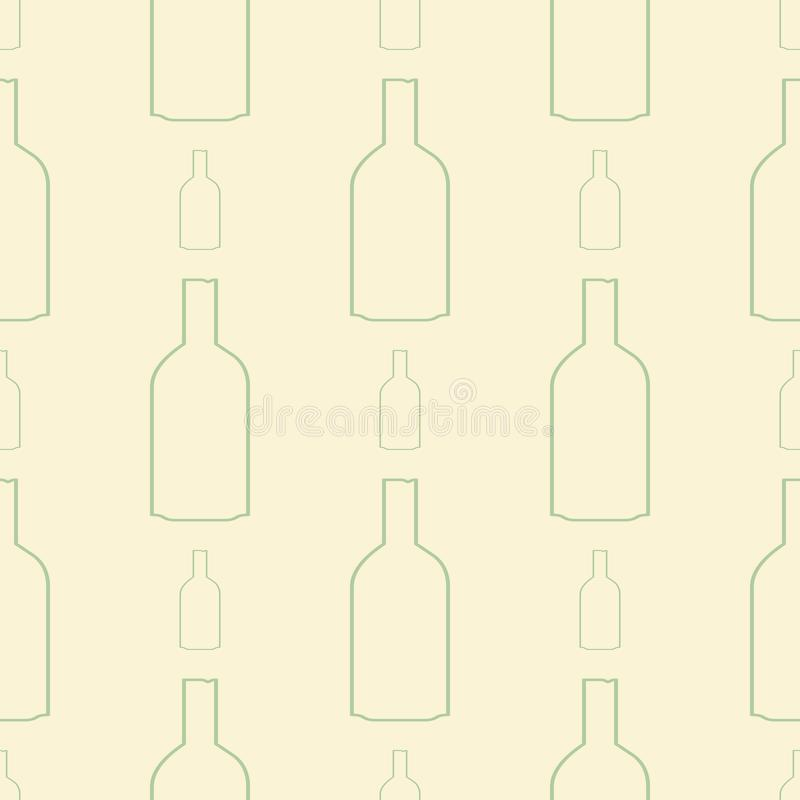 Seamless abstract illustrations of bottle, conceptual. Decoration, web, background & cover. royalty free illustration