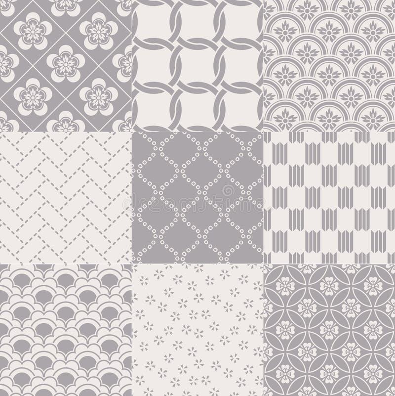 Seamless abstract japanese mesh pattern stock illustration