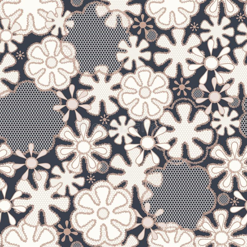 Free Seamless Abstract Lace Floral Pattern Royalty Free Stock Image - 25330336