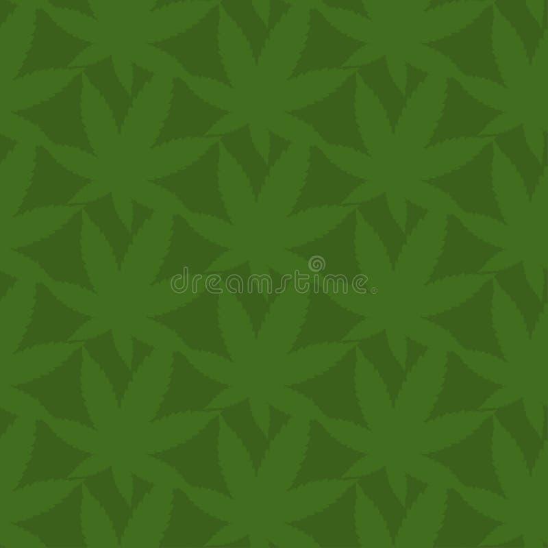Seamless abstract leaves of marijuana. Vector illustr. Seamless pattern of abstract leaves of marijuana. Vector illustration background royalty free illustration
