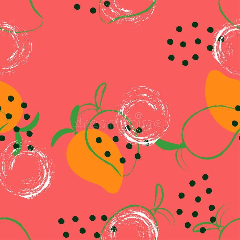 Abstract mango pattern stock illustration