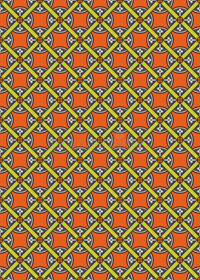 Seamless Abstract Medieval Vector Pattern Royalty Free Stock Photos