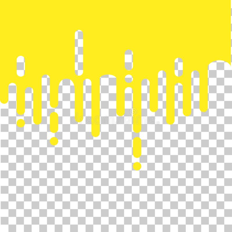Seamless abstract melting yellow rounded lines halftone transition background illustration, transparent effect royalty free illustration