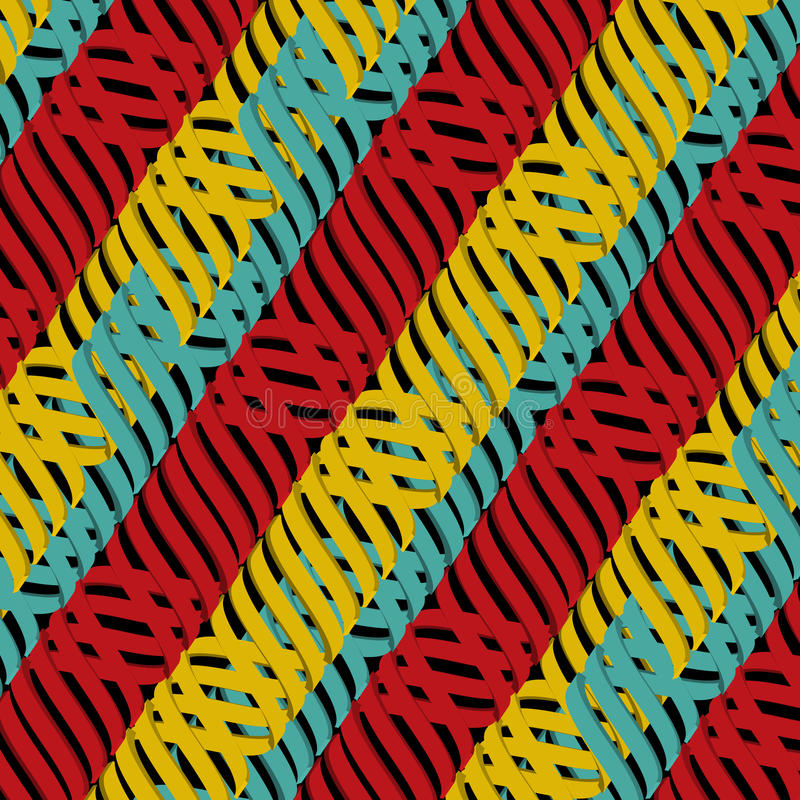 Seamless abstract multicolor tangled pattern stock illustration