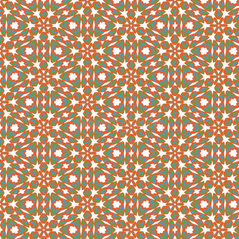 Fun Seamless abstract orange, blue and green texture fractal. Seamless abstract orange, blue and green texture fractal stock illustration