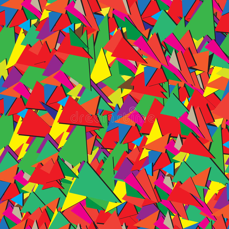 Seamless abstract ornamental pattern of triangles royalty free stock photo