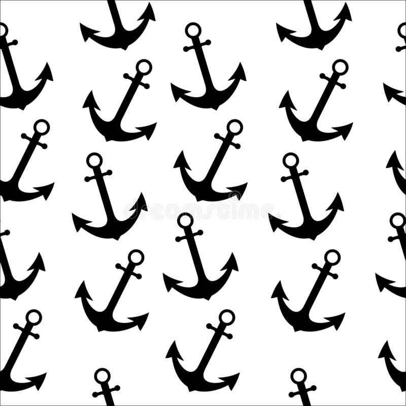 Seamless abstract pattern with anchor use for textile printing or background, wallpaper, ad, banner. Seamless abstract pattern anchor use textile printing royalty free illustration