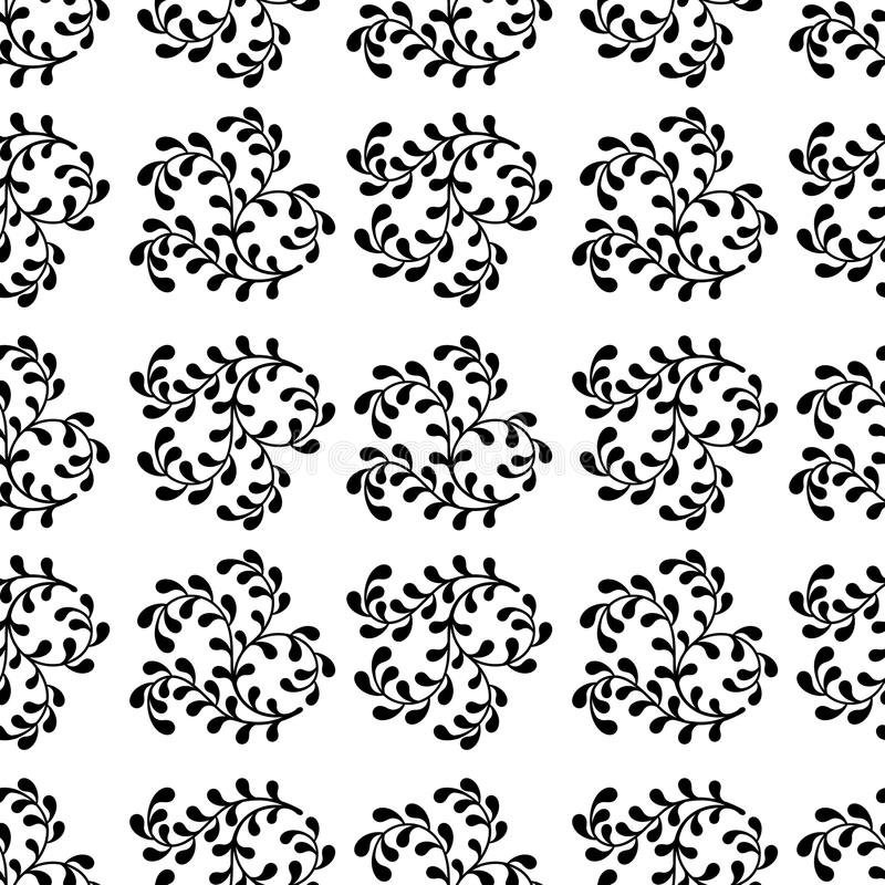 seamless abstract pattern of black branches on a white background royalty free illustration