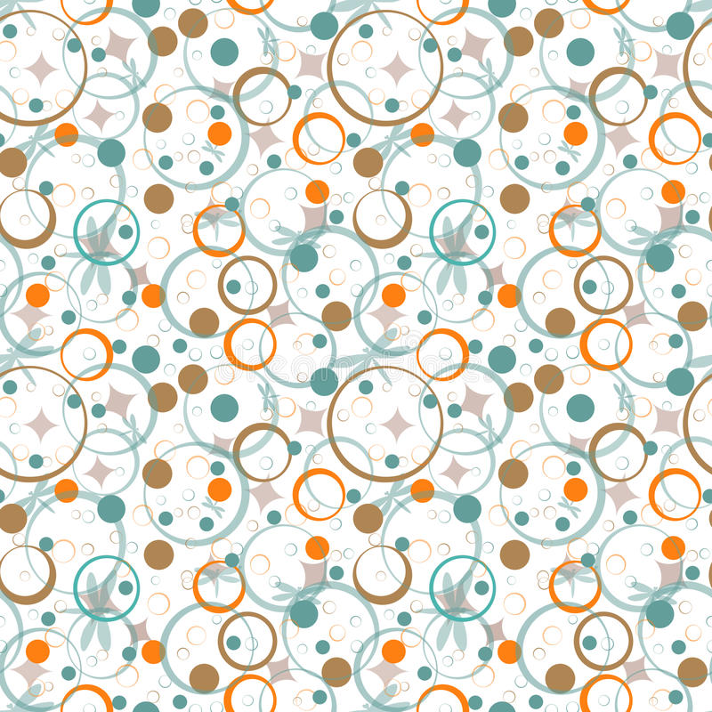 Seamless abstract pattern. Abstract seamless pattern with circles vector illustration