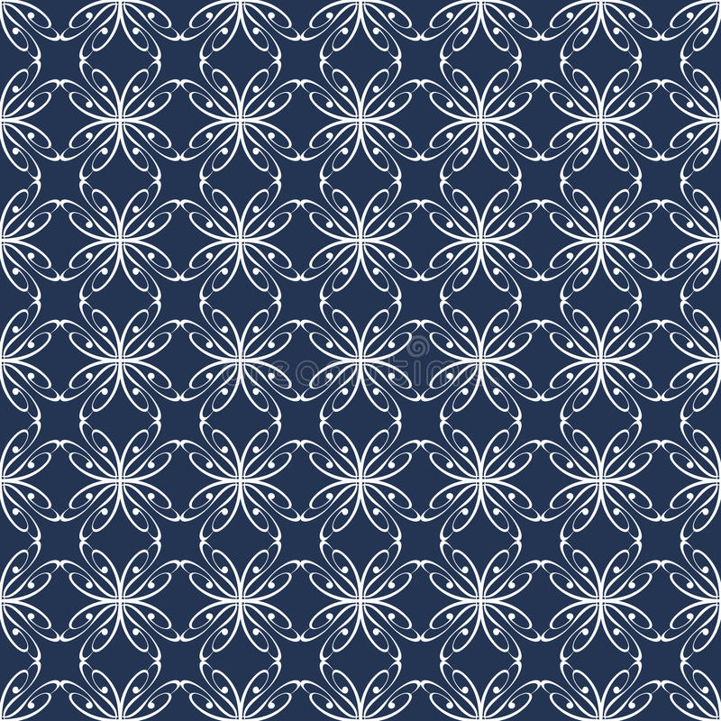 Seamless abstract pattern with curved abstract elements royalty free illustration