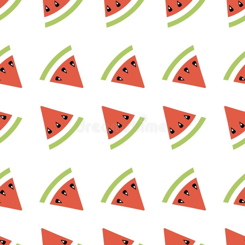 Seamless abstract pattern geometric illustration with melons, summer wallpaper  for textile printing or background, banner. Easter eggs painted border coloful vector illustration
