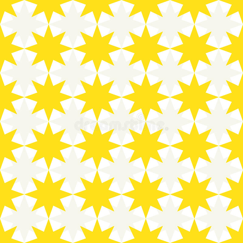 Seamless abstract pattern made of 8 point stars stock illustration