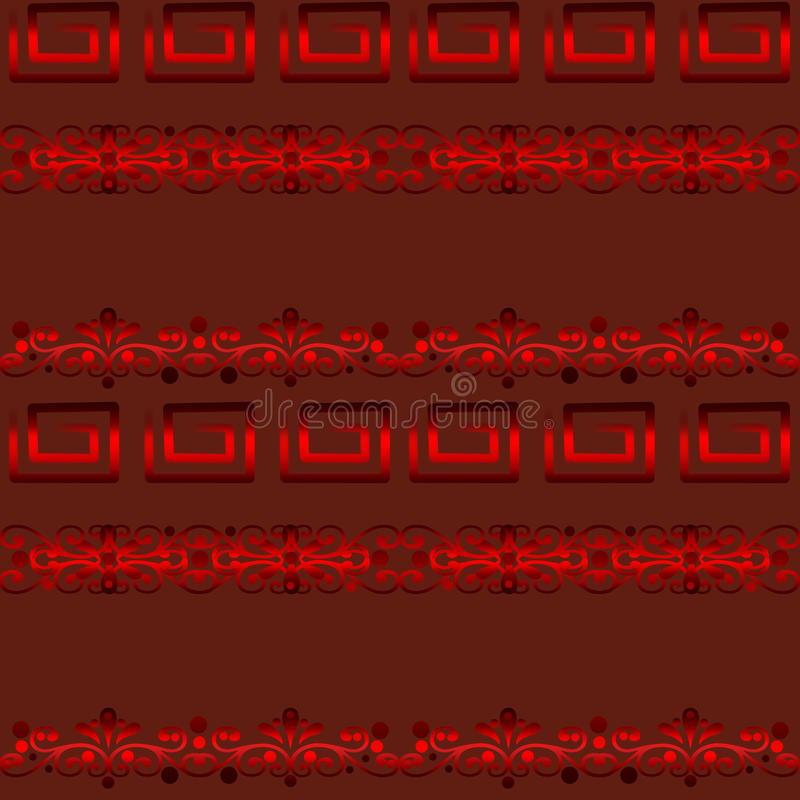 Seamless abstract pattern. On red background vector illustration