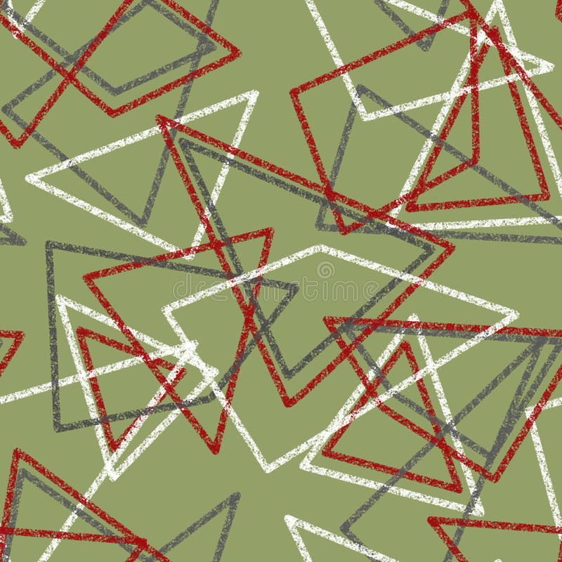 Seamless abstract pattern. With triangles stock illustration
