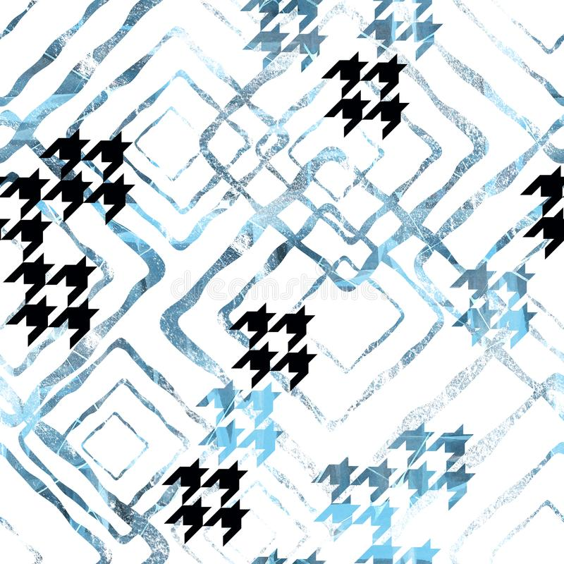 Seamless abstract pattern with watercolor effect. royalty free illustration