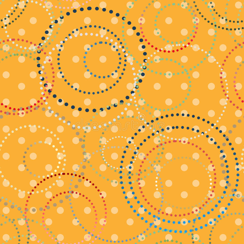 Seamless abstract pattern. Abstract seamless pattern on yellow dotted background royalty free illustration