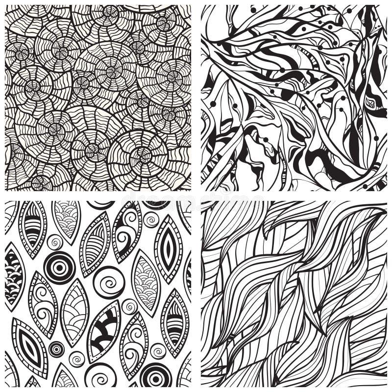seamless abstract patterns stock illustration