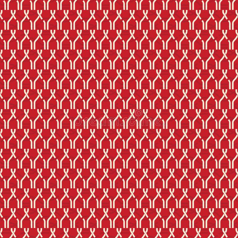 Seamless abstract retro geometric pattern. Chain elements aranged in vertical layout. stock illustration