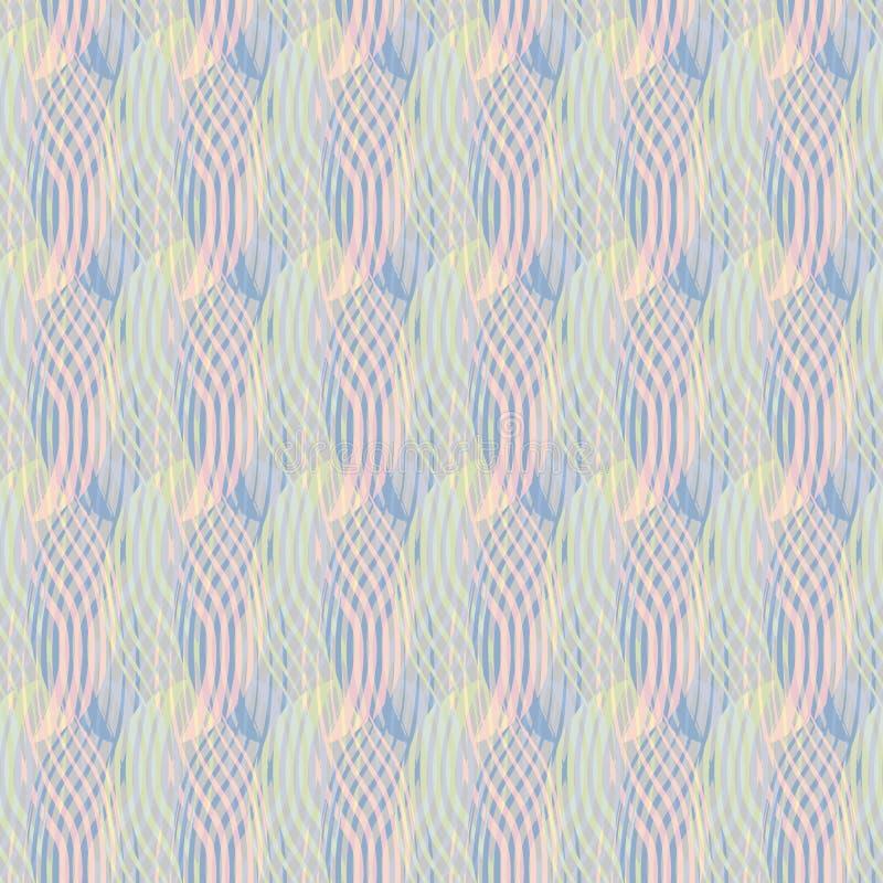 Seamless abstract retro geometric pattern stock illustration