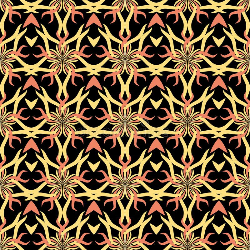 Seamless abstract stars vintage black pattern royalty free illustration