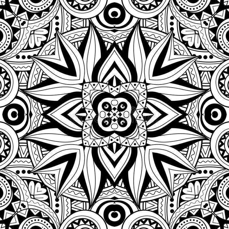 Seamless Abstract Tribal Pattern (Vector) royalty free illustration