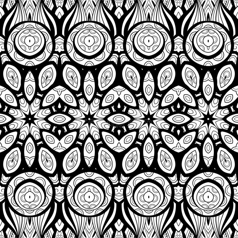 Seamless Abstract Tribal Pattern (Vector). Hand Drawn Ethnic Texture, Flight of Imagination vector illustration