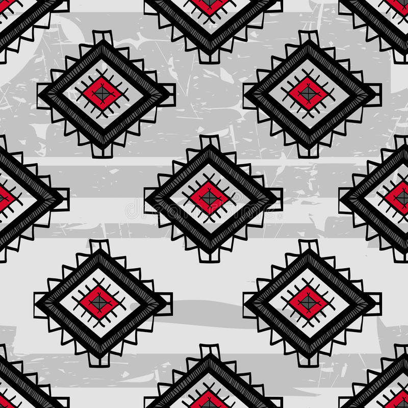 Seamless abstract vector ethnic pattern. Tribal vector design. royalty free illustration