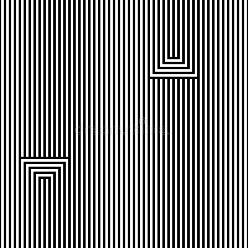 Seamless abstract vector pattern. Lines. Black, isolated on white background. vector illustration