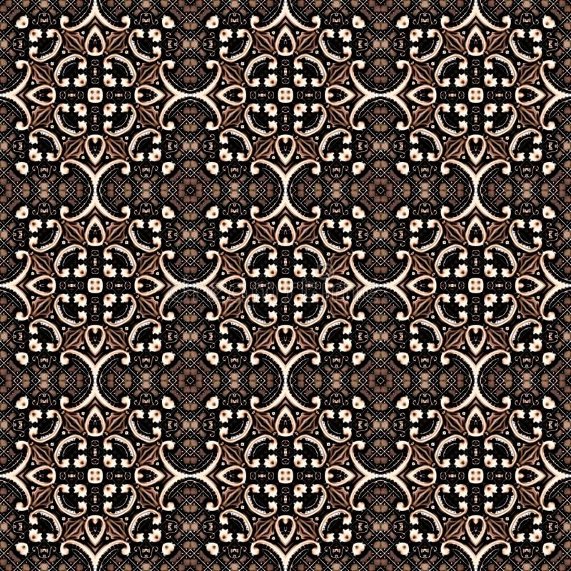 Seamless abstract vintage background colored mosaic symmetrical pattern on textured canvas colorful flower decor Design. For tapestry, wallpaper vector illustration