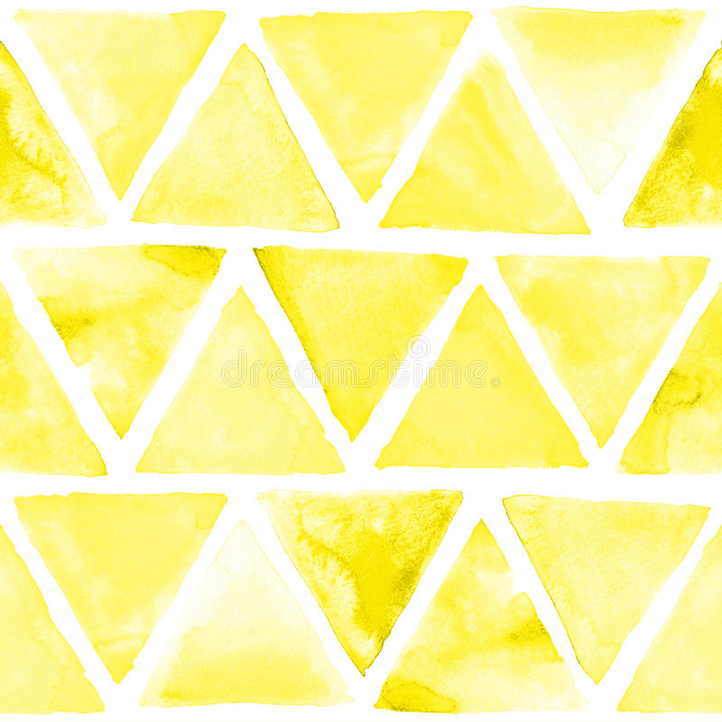 Seamless abstract watercolor retro triangular background royalty free illustration