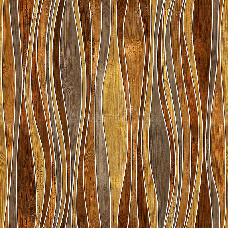 Seamless abstract wooden pattern. Waves, veneer rosewood stock images