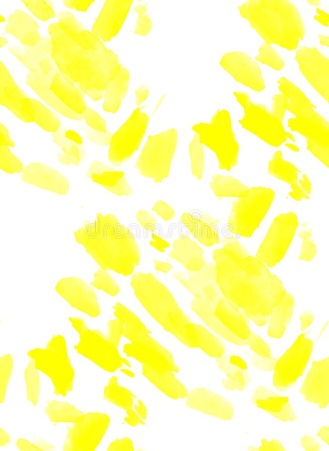 Seamless abstract yellow watercolor splash background. art by painted image royalty free illustration