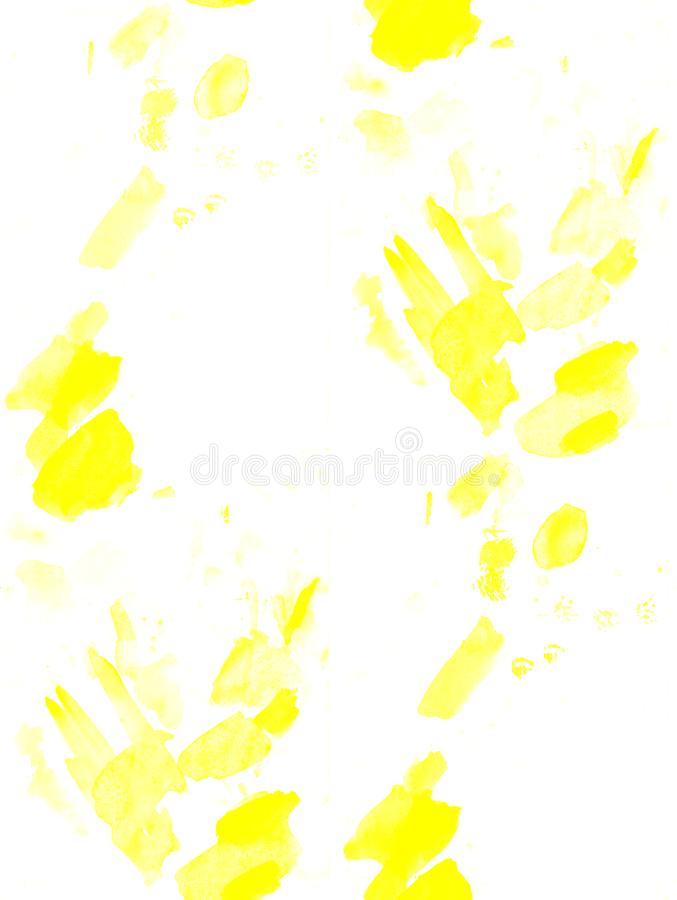 Seamless abstract yellow watercolor splash background. art by painted image royalty free stock photos