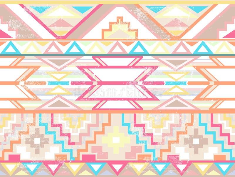 seamless abstrakt aztec geometrisk modell royaltyfri illustrationer